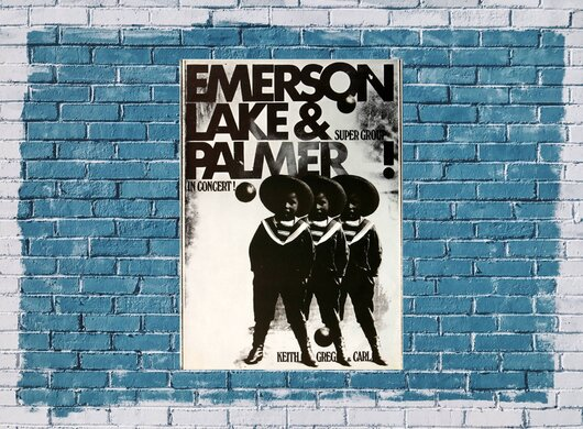 Emerson, Lake & Palmer - Pictures of an Exhibition, Frankfurt 1972 - Konzertplakat