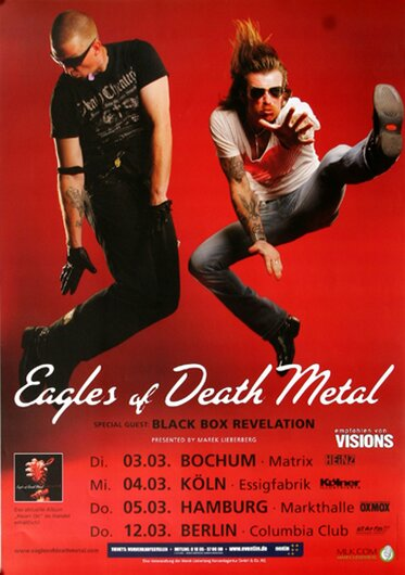 Eagles of Death Metal - Heart On, Tour 2009 - Konzertplakat
