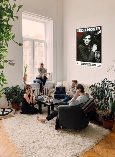 Eddie Money - Ticket To Paradise, Hamburg 1979 - Konzertplakat