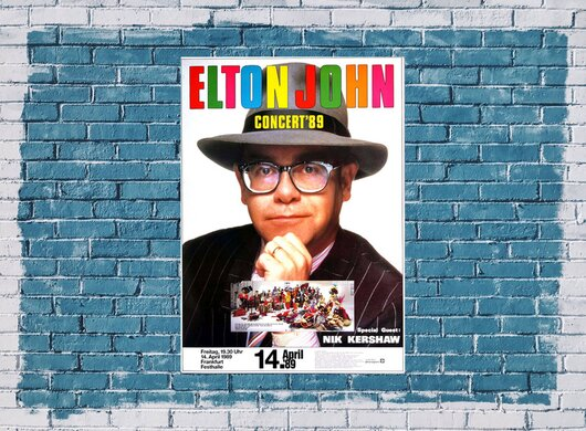 Elton John - Sleeping With The Past, Frankfurt 1989 - Konzertplakat