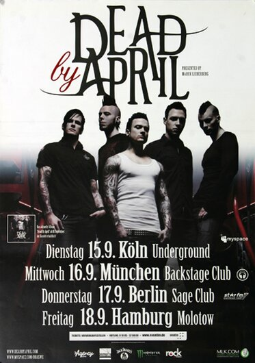 Dead By April - What Can I Say, Tour 2009 - Konzertplakat