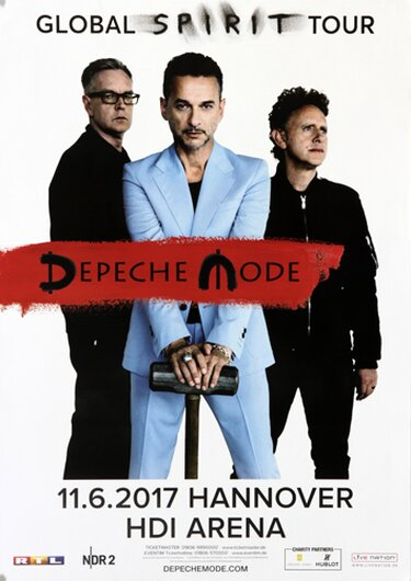 Depeche Mode - Global Spirit , Hannover 2017 - Konzertplakat