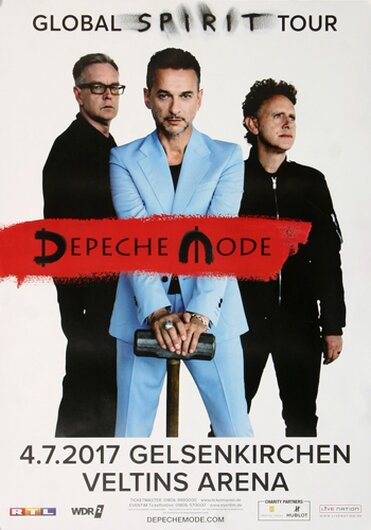 Depeche Mode - Global Spirit , Gelsenkirchen 2017 - Konzertplakat