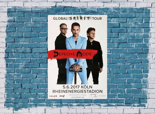 Depeche Mode - Global Spirit , Köln 2017 - Konzertplakat