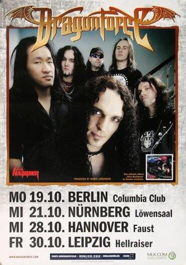 DragonForce - Heroes Of Our Time, Tour 2009 - Konzertplakat