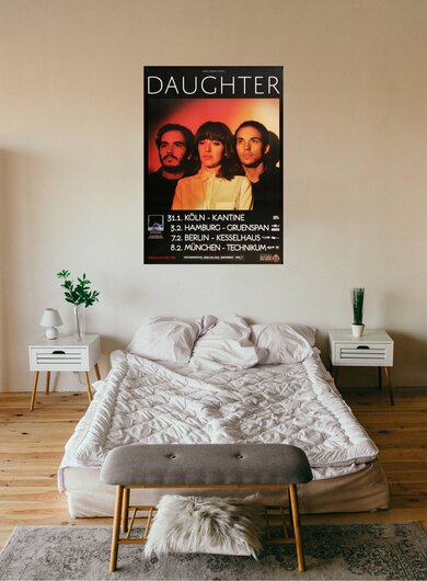 Daughter - If You Leave, Tour 2016 - Konzertplakat
