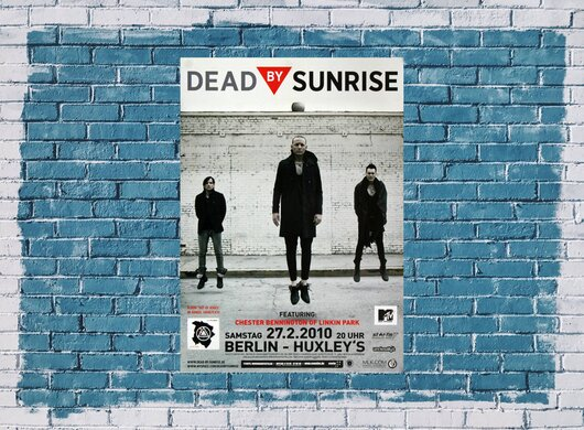 Dead By Sunrise - Out Of Ashes , Berlin 2010 - Konzertplakat