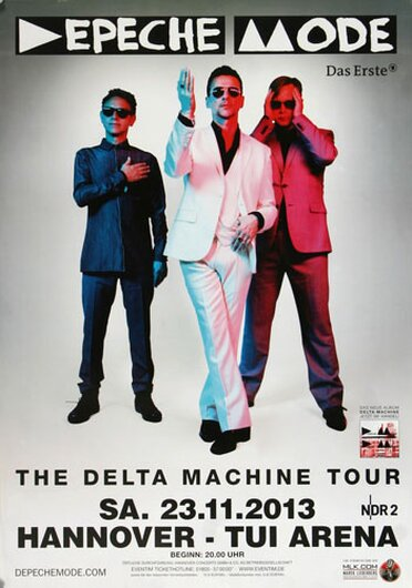 Depeche Mode - The Delta Machine, Hannover 2013 - Konzertplakat