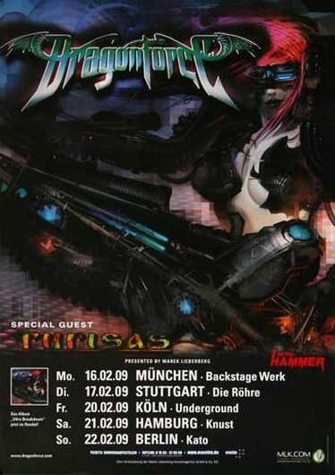 DragonForce - Ultra Beatdown, Tour 2009 - Konzertplakat