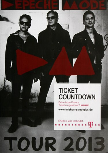 Depeche Mode - Delta Machine,  2013 - Konzertplakat