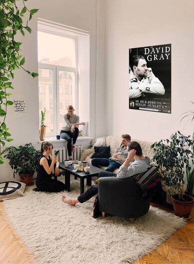 David Gray - Foundling, Berlin 2010 - Konzertplakat