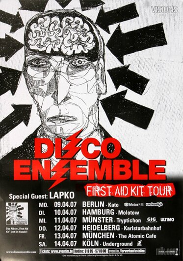 Disco Ensemble - First Aid Kid, Tour 2007 - Konzertplakat