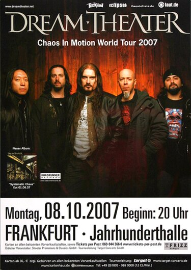 Dream Theater - Chaos in Motion, Frankfurt 2007 - Konzertplakat
