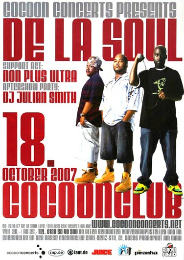 De la Soul - Are You In, Frankfurt 2007 - Konzertplakat