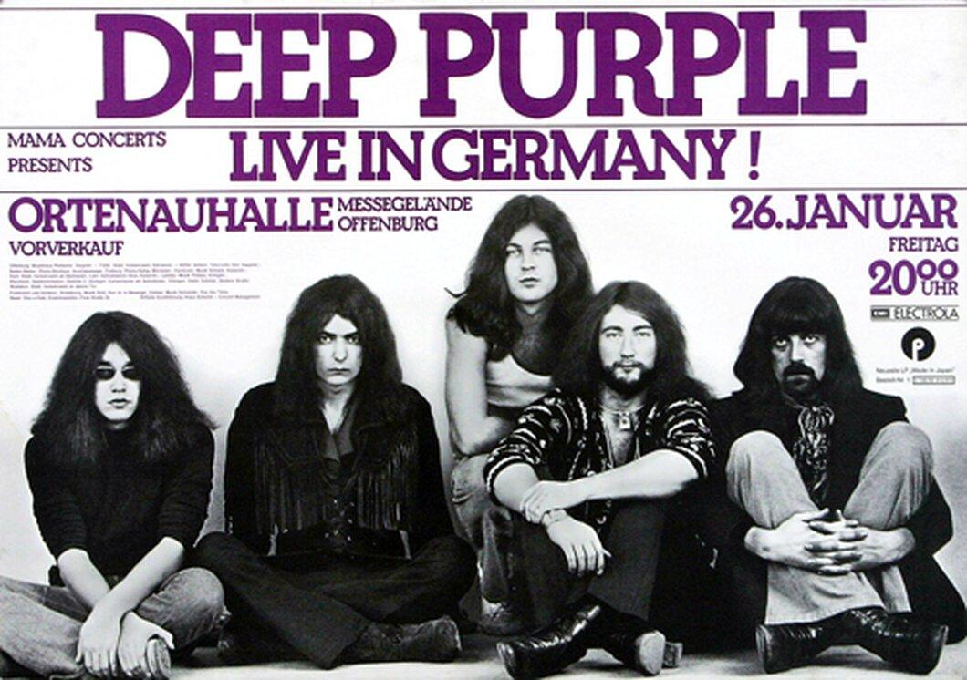 Deep Purple - Who Do We Think We Are, Offenburg 1973 - Konzertplakat