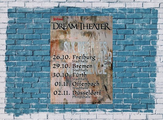 Dream Theater - Six Degrees, Tour 2002 - Konzertplakat