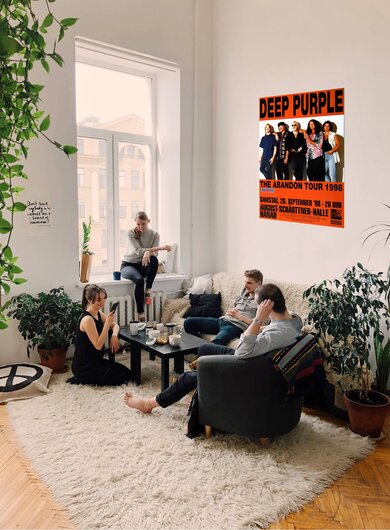 Deep Purple - The Abandon, Hanau 1998 - Konzertplakat