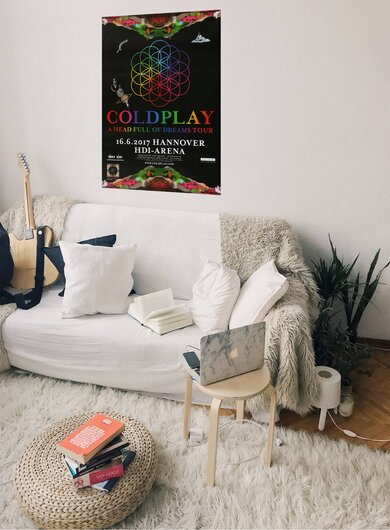Coldplay - Head Full Of Dreams , Hannover 2017 - Konzertplakat