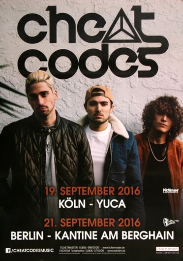 Cheat Codes - Live on Stage, Berlin 2016 - Konzertplakat