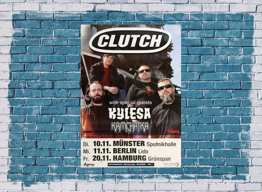 Clutch - Firebirds, Tour 2016 - Konzertplakat