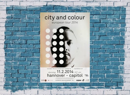 City And Color - The Hurry , Hannover 2014 - Konzertplakat