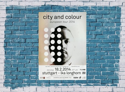City And Color - The Hurry , Stuttgart 2014 - Konzertplakat