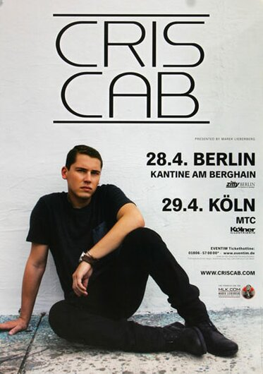 Cris Cab - Where I Belong, Bremen & Karlsruhe 2014 - Konzertplakat