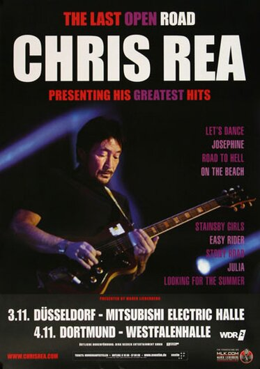 Chris Rea - Greatest Hits , Dortmund 2014 - Konzertplakat
