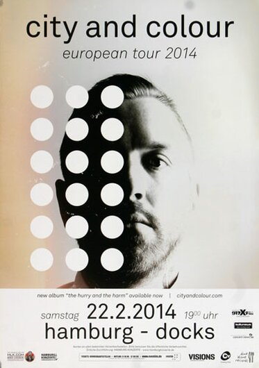 City And Color - The Hurry , Hamburg 2014 - Konzertplakat