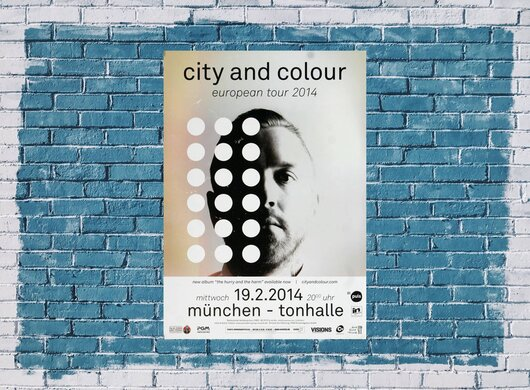 City And Color - The Hurry , München 2014 - Konzertplakat