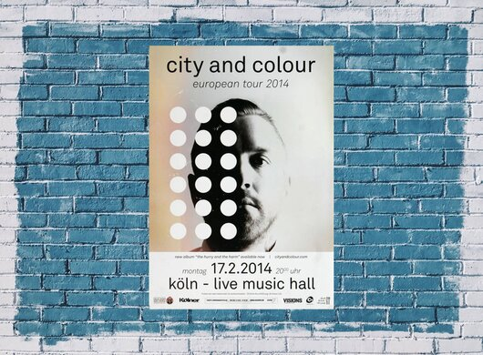 City And Color - The Hurry , Köln 2014 - Konzertplakat