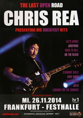 Chris Rea - Greatest Hits , Frankfurt 2014 - Konzertplakat