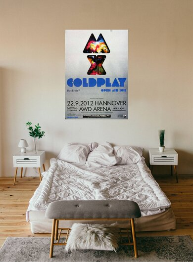 Coldplay - Live in , Hannover 2012 - Konzertplakat