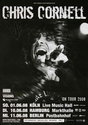 Chris Cornell - Soundgarten, Tour 2008 - Konzertplakat