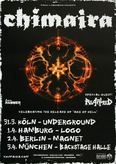 Chimaira - The Age Of Hell, Tour 2012 - Konzertplakat