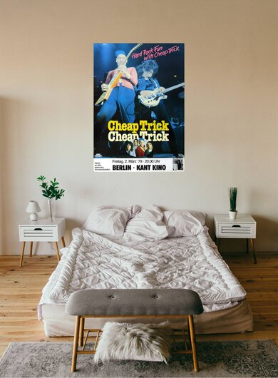 Cheap Trick - Hard Rock Fun, Berlin 1979 - Konzertplakat