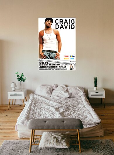 Craig David - Slicker Than, Frankfurt 2003 - Konzertplakat