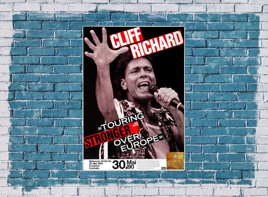 Cliff Richard - Stronger, Frankfurt 1990 - Konzertplakat