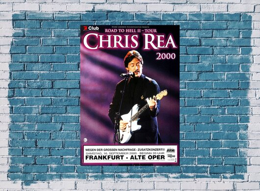 Chris Rea - Road To Hell II, Frankfurt 2000 - Konzertplakat