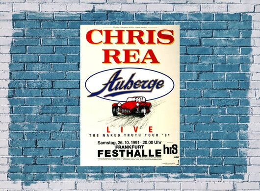 Chris Rea - Naked Truth, frankfurt 1991 - Konzertplakat