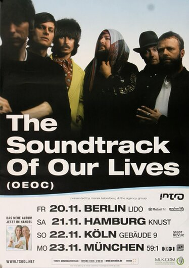 The Soundtrack Of Our Lives - Golden Greats, Tour 2009 - Konzertplakat