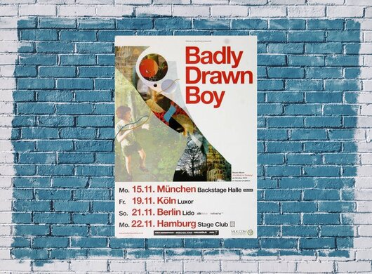 Badly Drawn Boy - It´s What I´m Thinking, Tour 2010 - Konzertplakat