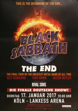 Black Sabbath - The End , Köln 2017 - Konzertplakat
