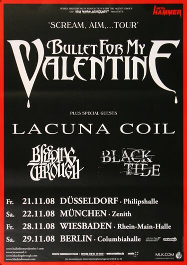 Bullet for My Valentine, Tour 2008