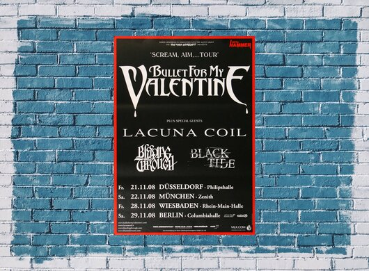 Bullet for My Valentine - Eye Of The Storm, Tour 2008 - Konzertplakat