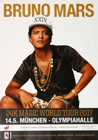 Bruno Mars - Magic World , München 2017 - Konzertplakat
