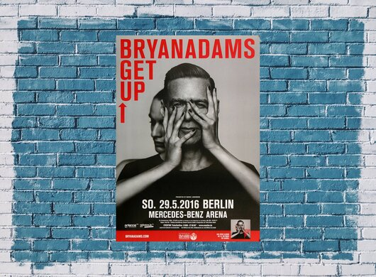 Bryan Adams - Get Up , Berlin 2016 - Konzertplakat