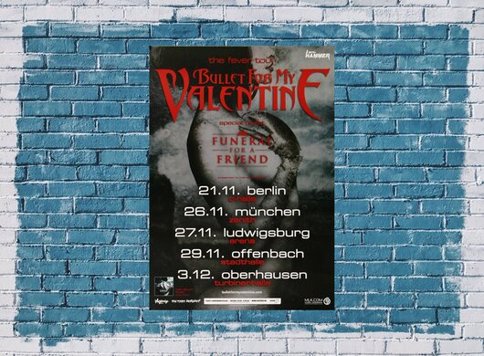 Bullet for My Valentine - Dignity, Tour 2010 - Konzertplakat