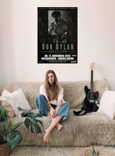 Bob Dylan and His Band - Shadows , Regensburg 2015 - Konzertplakat