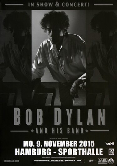 Bob Dylan and His Band - Shadows , Hamburg 2015 - Konzertplakat